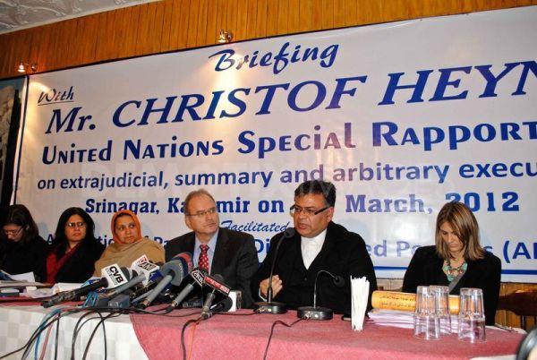 UN special Rapporteur in Kashmir